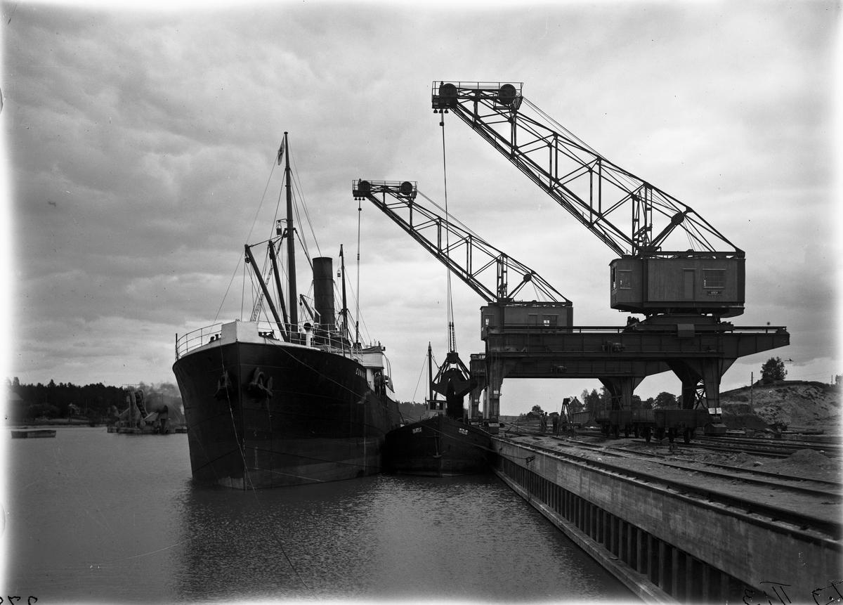 Köpings hamn, lastkranar.