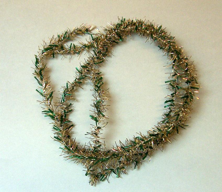 Glitter til juletre. Tofarga band.