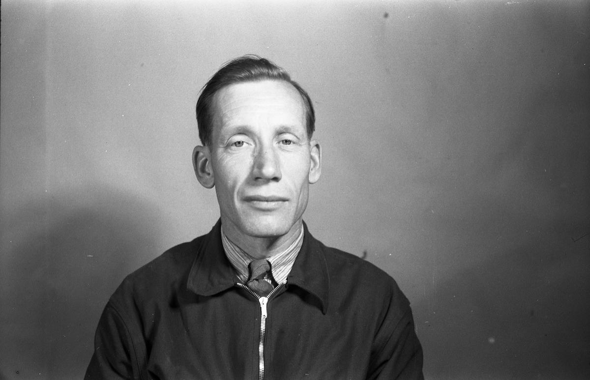 Mannsportrett mai/juni 1951. Antatt Kolbjørn Sveen fra gården Hensvoll.