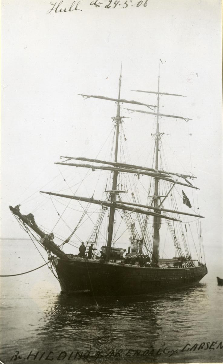 Brigg 'Hilding' (b.1870, Johannesen & Finvold, Grimstad, Norge)