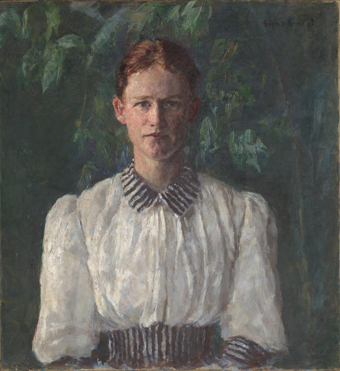 Malerinnen Helga Ring (Reusch) [Maleri]