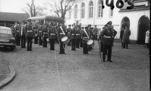 Musikkåren A 6 vid Soldathemmet.