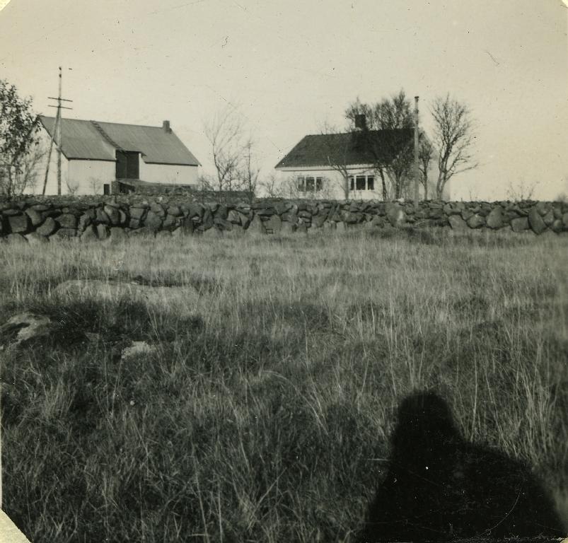 """Bygningane på """"Ledål"""" i 1938, Vestly bnr. 4."""