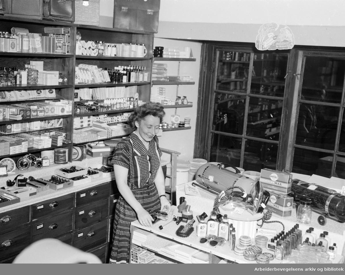 Postfunksjonærenes interessekontor. August 1953