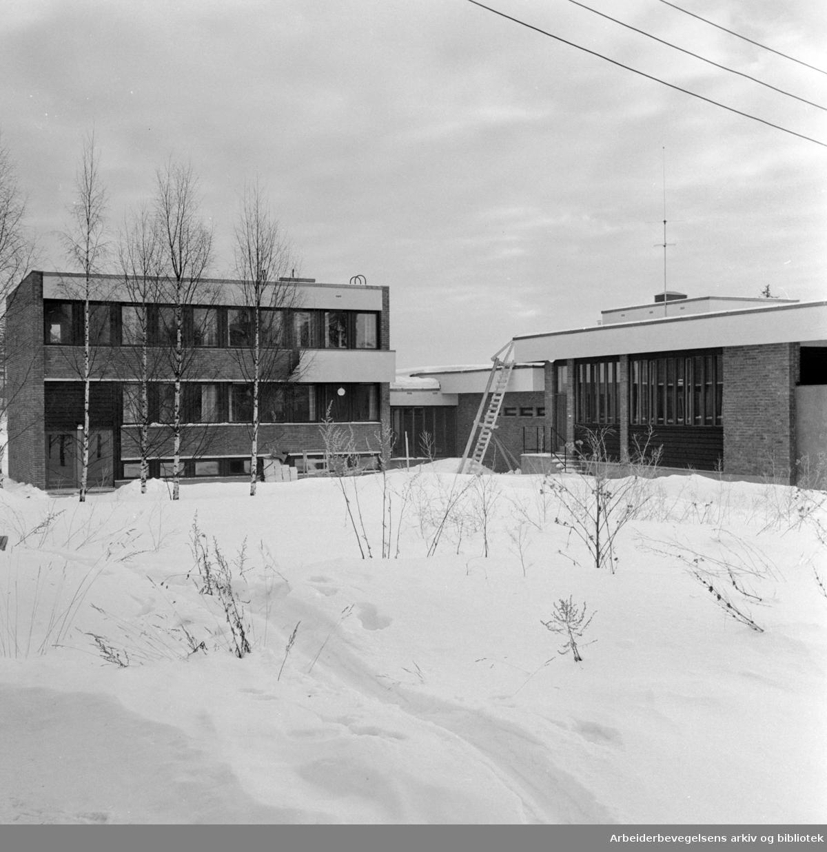 OBOS, kontorer. Observasjonshjemmet på Sogn. Januar 1963