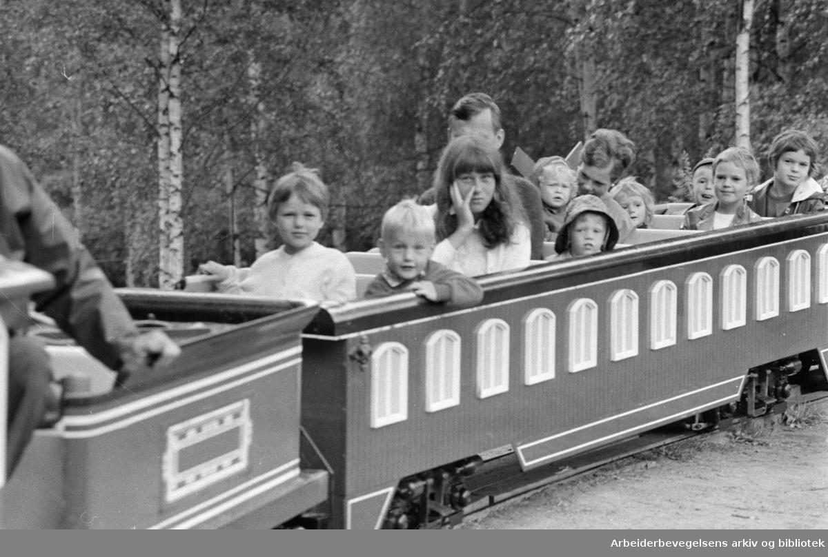 Mosseveien: Fornebo Dyrepark. Juli 1968