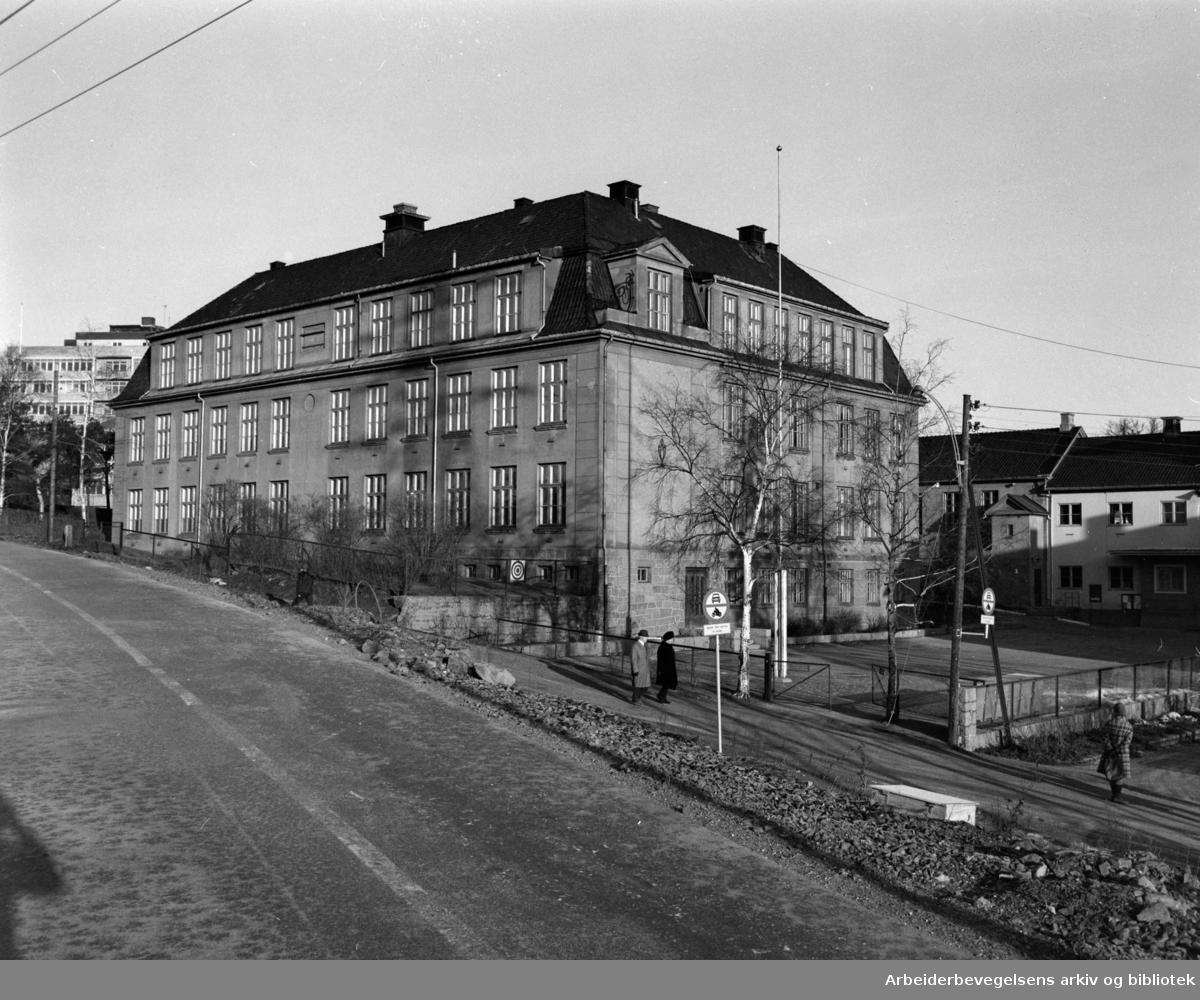 Løren skole. Februar 1975
