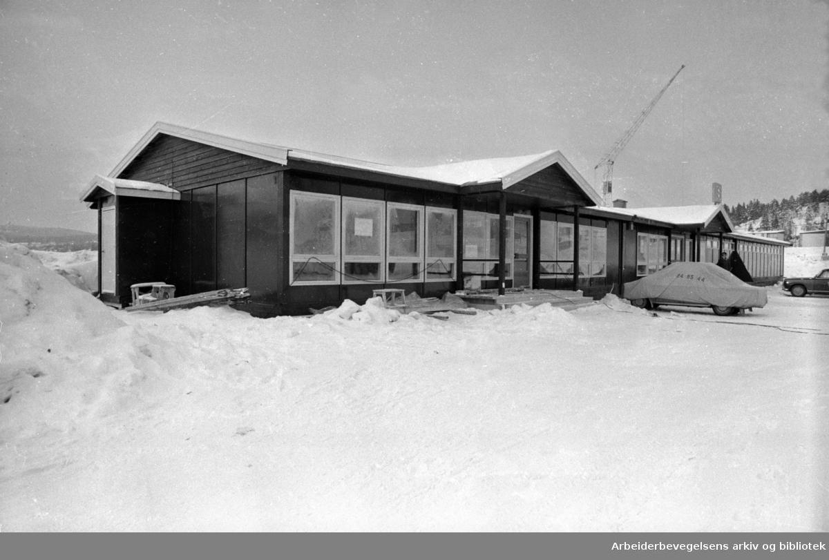 Landsbanken. Filialen på Haugenstua. Februar 1969