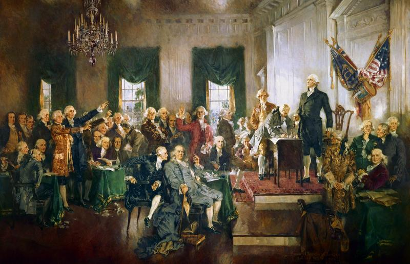 """Scene at the Signing of the Constitution of the United States"" av Howard C. Christy"