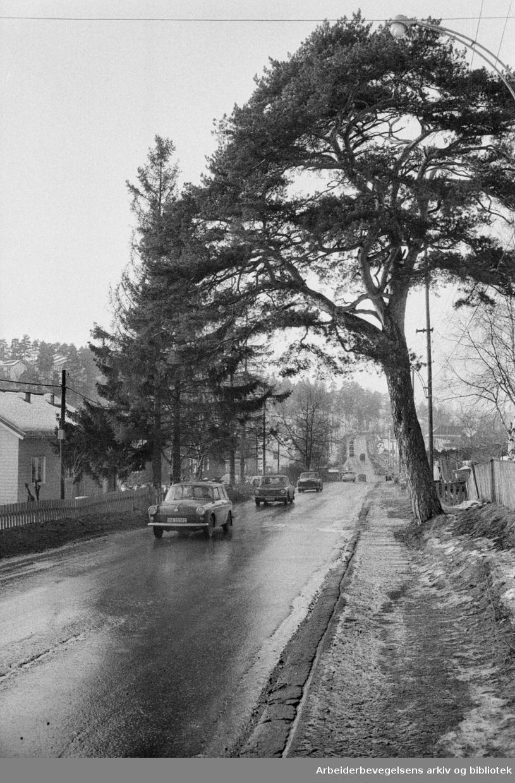 Enebakkveien. Mars 1972