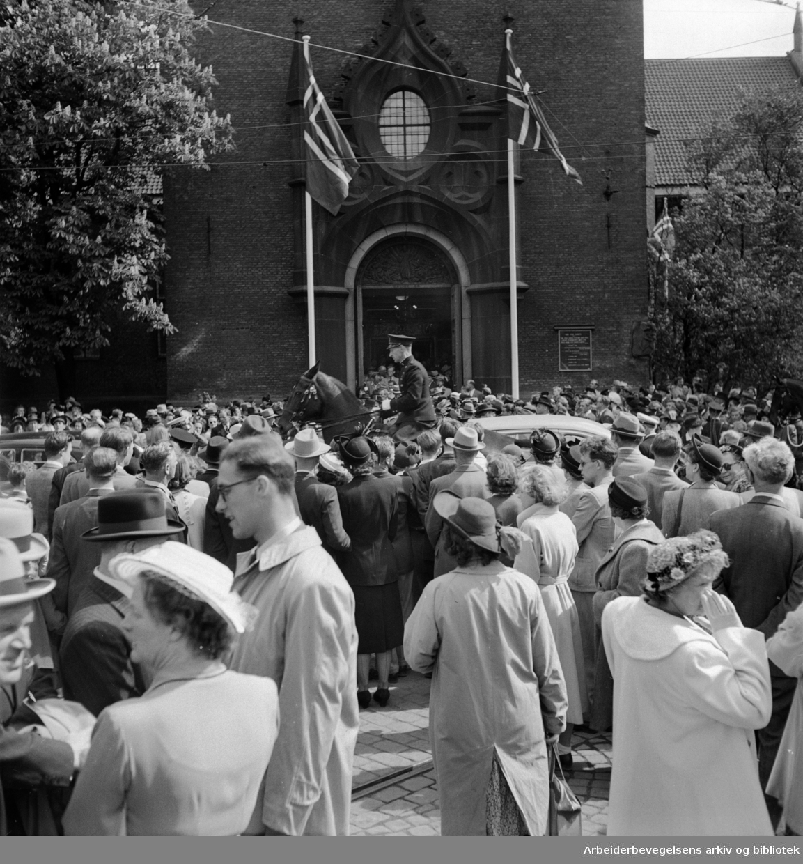 Domkirken. Innvielsen. Mai 1950
