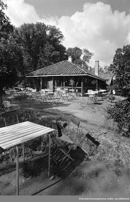 Bygdøy. Rodeløkken kafé. 1977