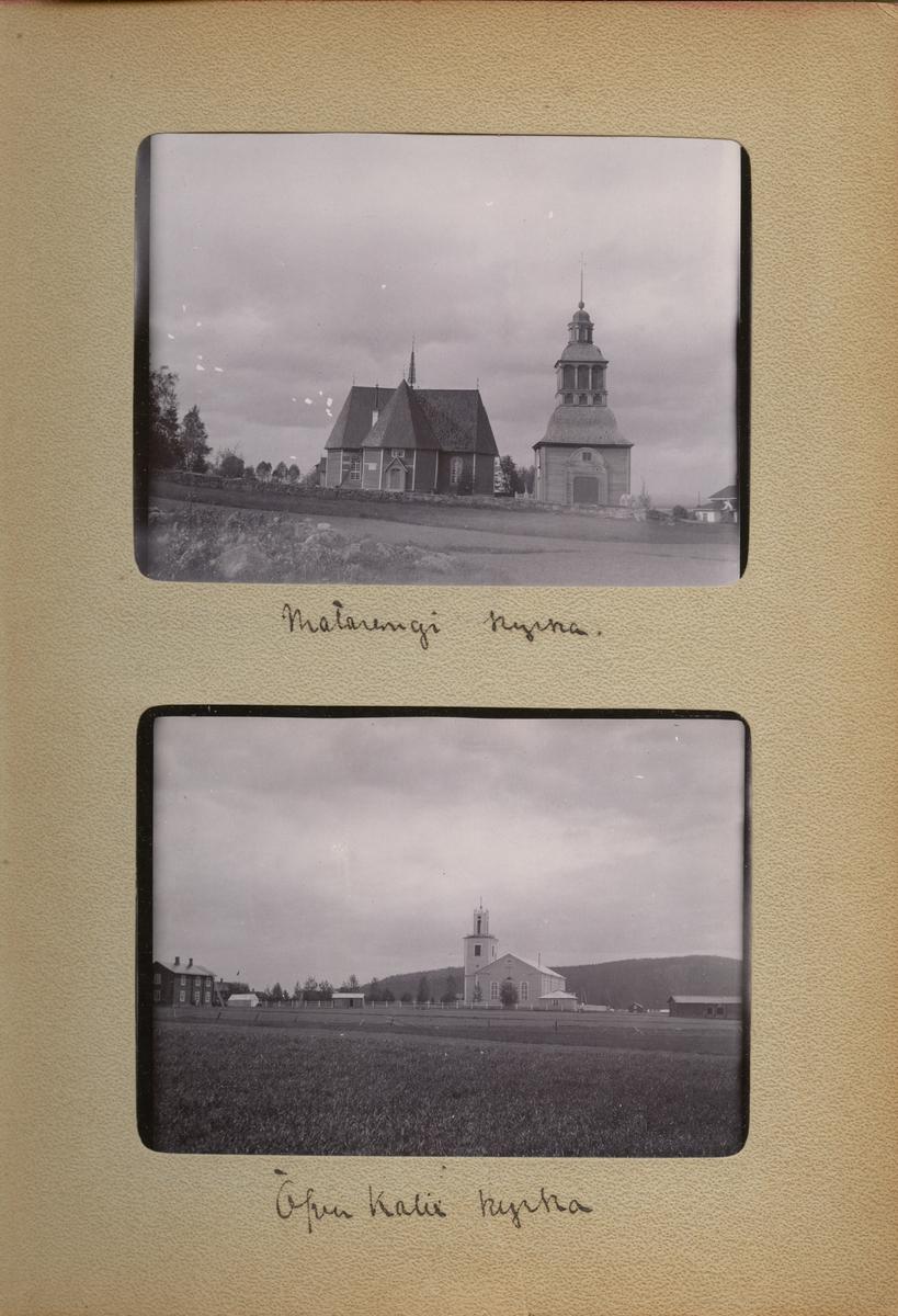 "Text i fotoalbum: ""Matarengi kyrka."""