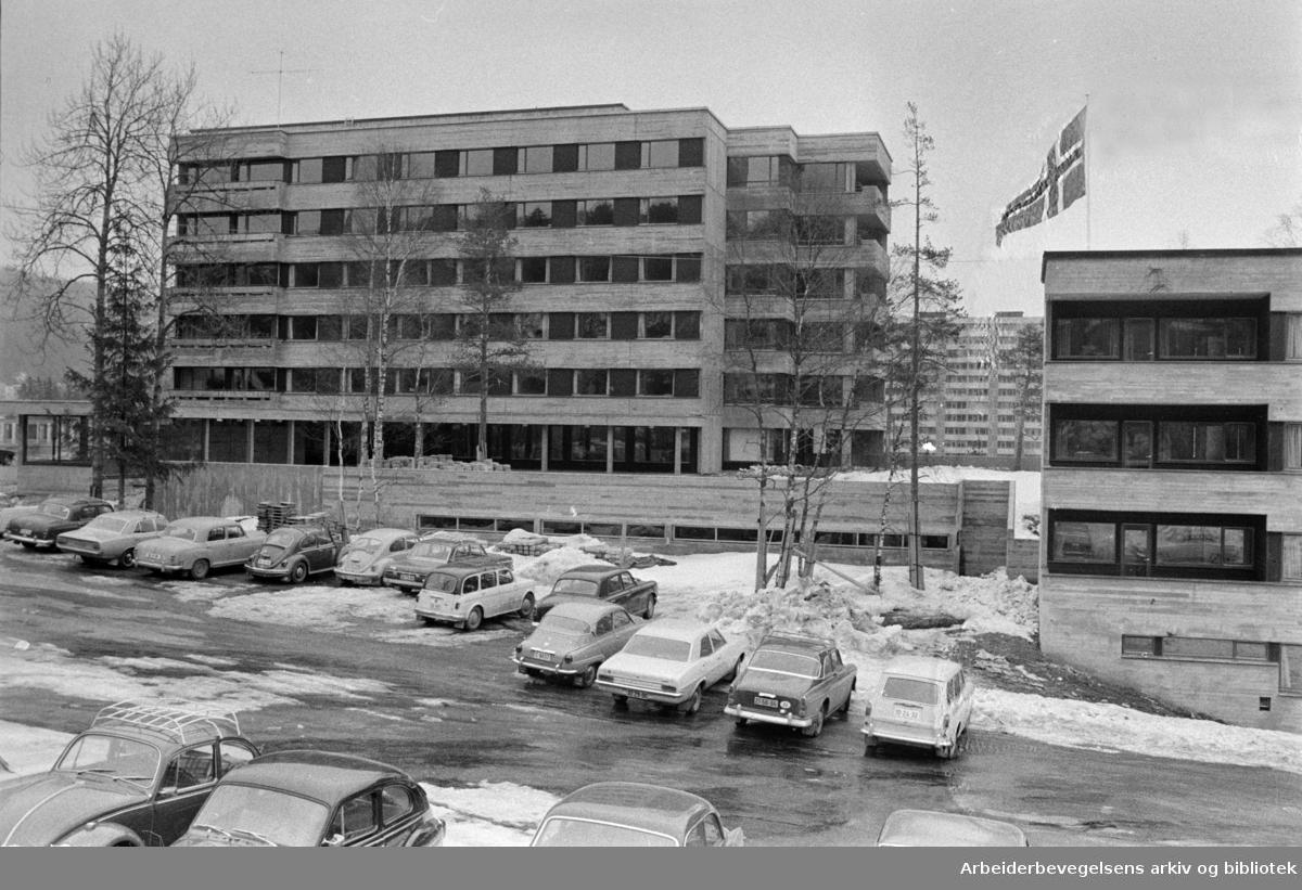 Ammerud. Oslo Indremisjons nye sykehjem innviet..April 1970