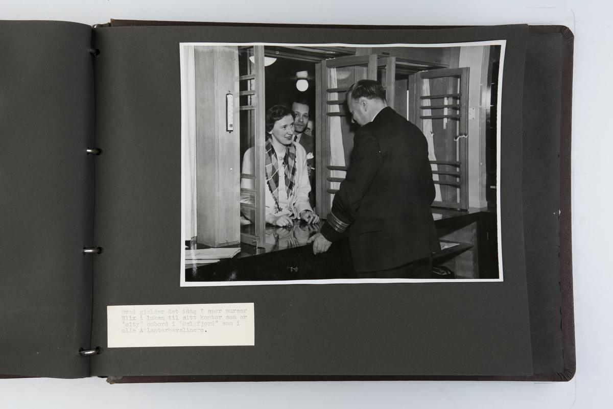 Album med fotografier av M/S 'Oslofjord' langs norskekysten.
