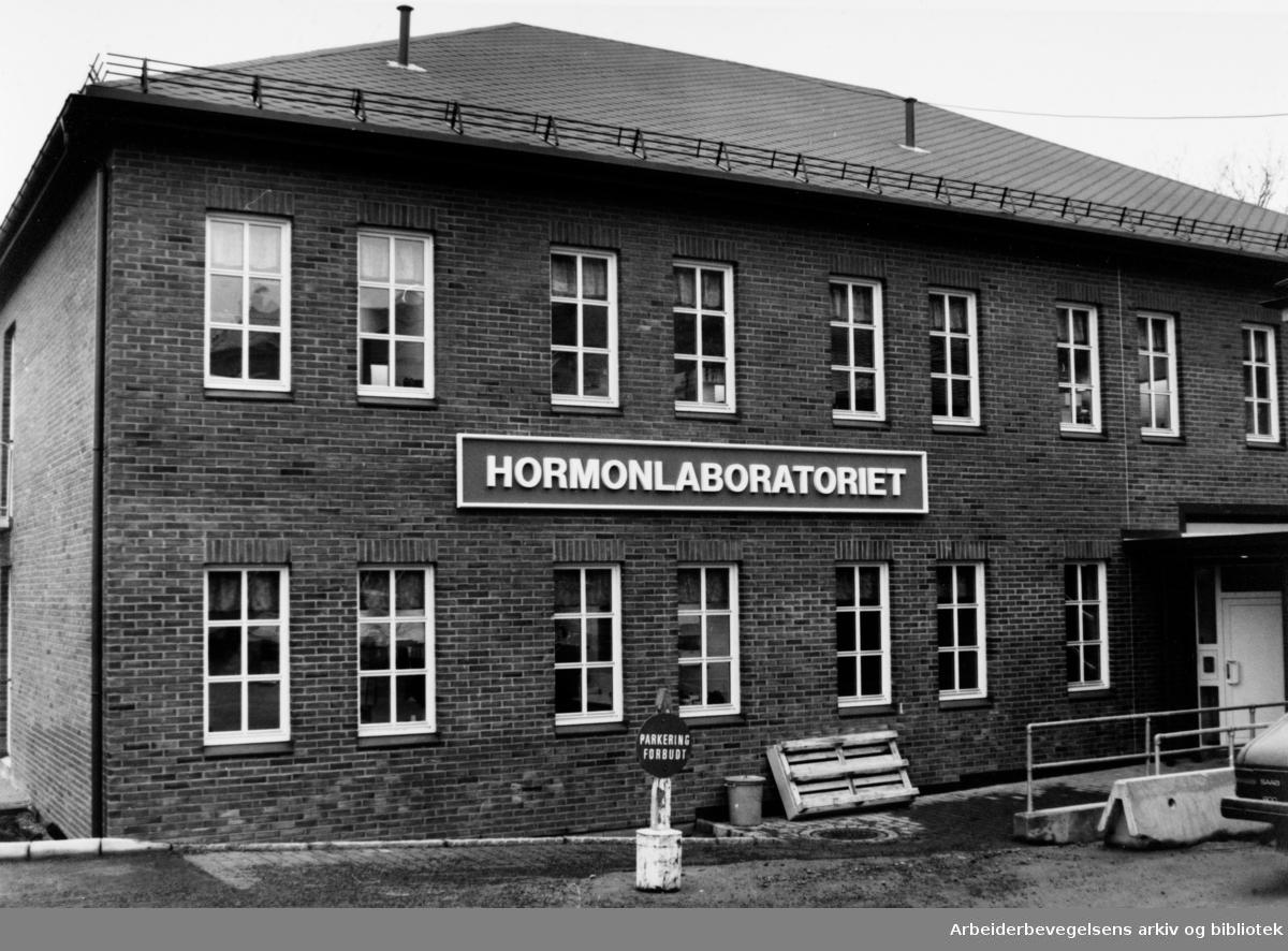 Aker sykehus. Hormonlaboratoriet. Eksteriør. Februar 1992