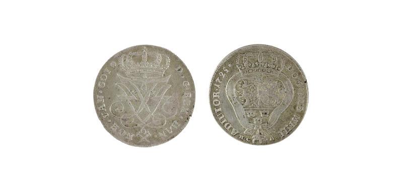 Mynt fra 1725 (Foto/Photo)