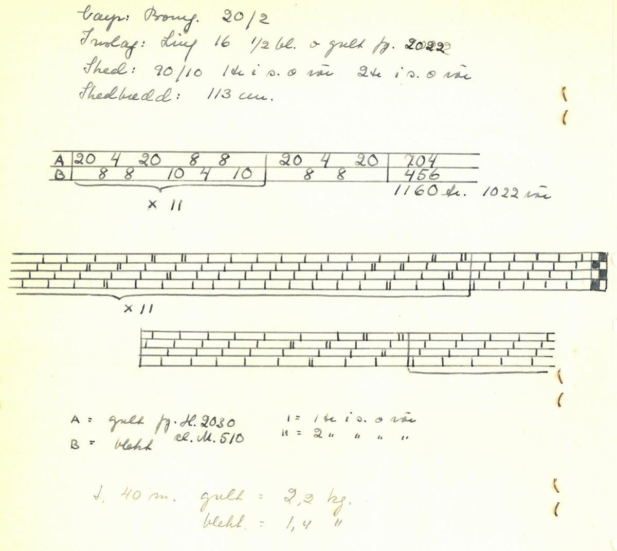 """Pärm med vävprover till gardiner. Gardin """"Gullregn"""" Formgivare: Kerstin Butler 1961-1969"""