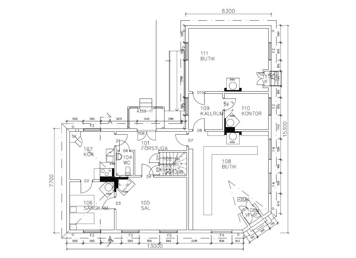Järnhandlarens hus i Skansens stadskvarter är till sin fasad uppfört efter förlagan på Repslagargatan 8 (Modisten 3) i Hudiksvall. Stommen är modern.   Byggnaden är uppförd i en våning, med källare i souterräng, grunden är av huggen natursten. Fasaden är klädd med liggande panel målad i en ljust vit kulör. Fasaden delas in av lisener vid det avskurna hörnet, samt med horisontell mittelbandslist i fönstrens underkant samt som en artikulering av vindsvåningen. Taket är brutet och klätt med rödmålad plåt. Vid det avskurna hörnet finns en takkupa med rundat överstycke, snickarglädje samt spira. Byggnaden har två murade skorstenar i tegel.   Järnhandlarens hus rymmer en järnhandel med kontor, en järnhandlarbostad samt en konsumbutik.   Byggnaden uppfördes på Skansen under åren 2004-2005.