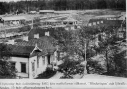Byggnader vid livgrenadjärregementet på Malmen. I bakgrunden