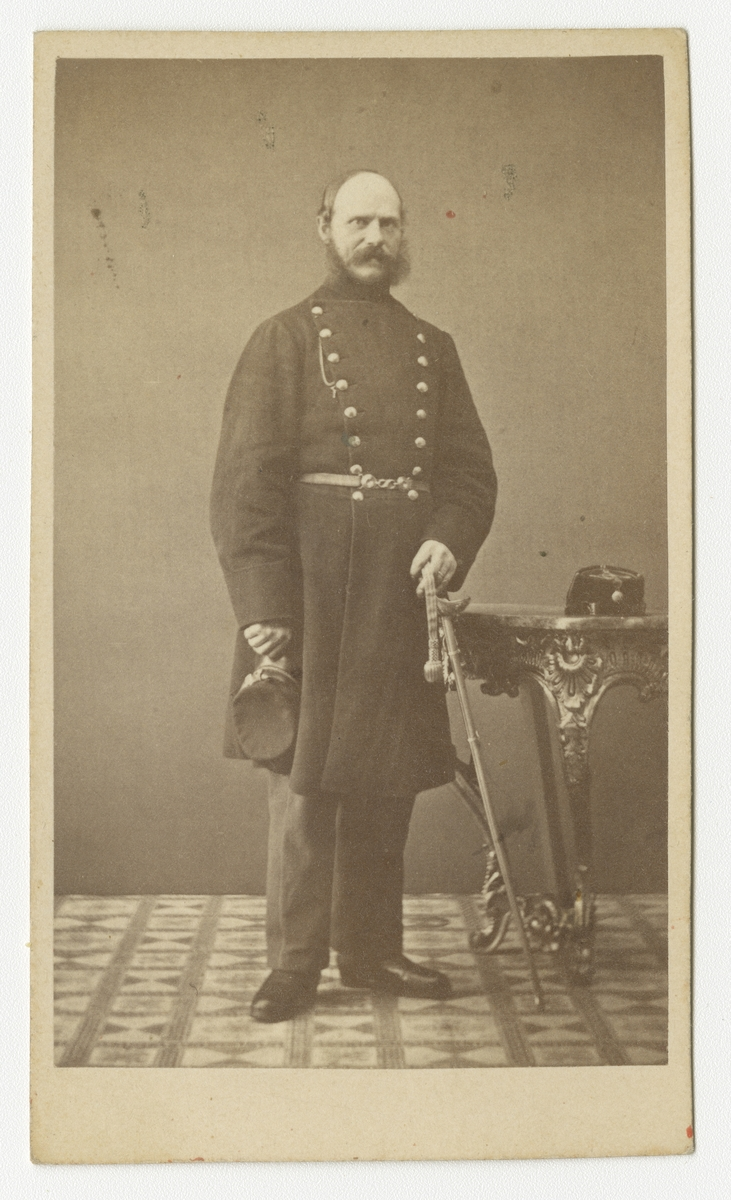 Porträtt av furir Fock vid Västgöta regemente I 6.