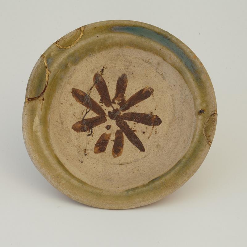 Ukjent pottemaker, Japansk skål (ca. 1600), Oribegods,