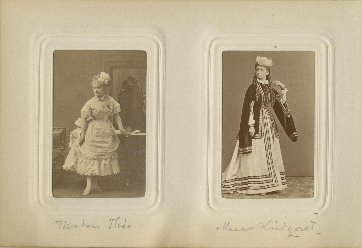 Porträtt av mamsell (Stella Wilhelmina?) Lindqvist.