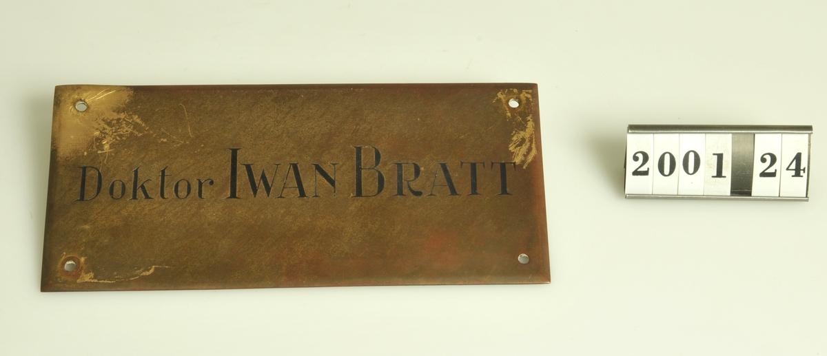 Tillvaratagen när Bratts fastighet revs.