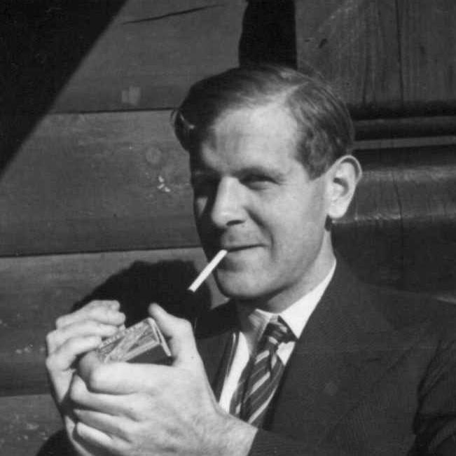 Reidar Kjellberg som ung