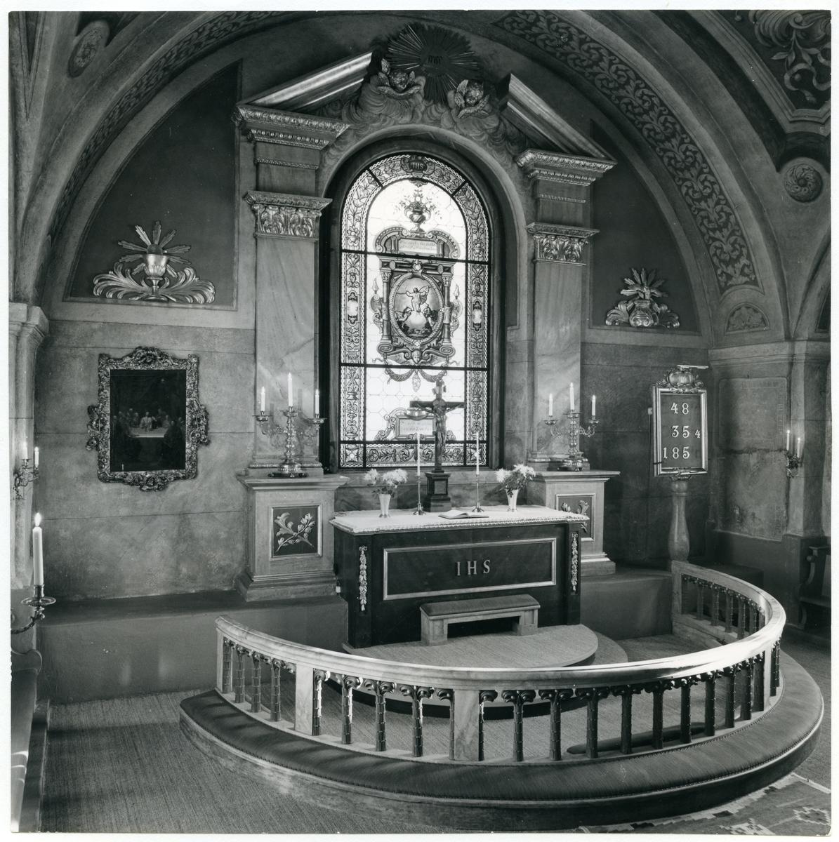 Fläckebo sn. Kyrkans altare.
