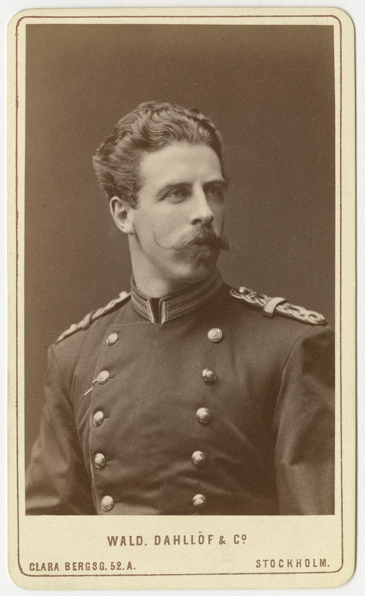 Porträtt av Gustaf Ludvig Kantzow, officer vid Södermanlands regemente I 10.