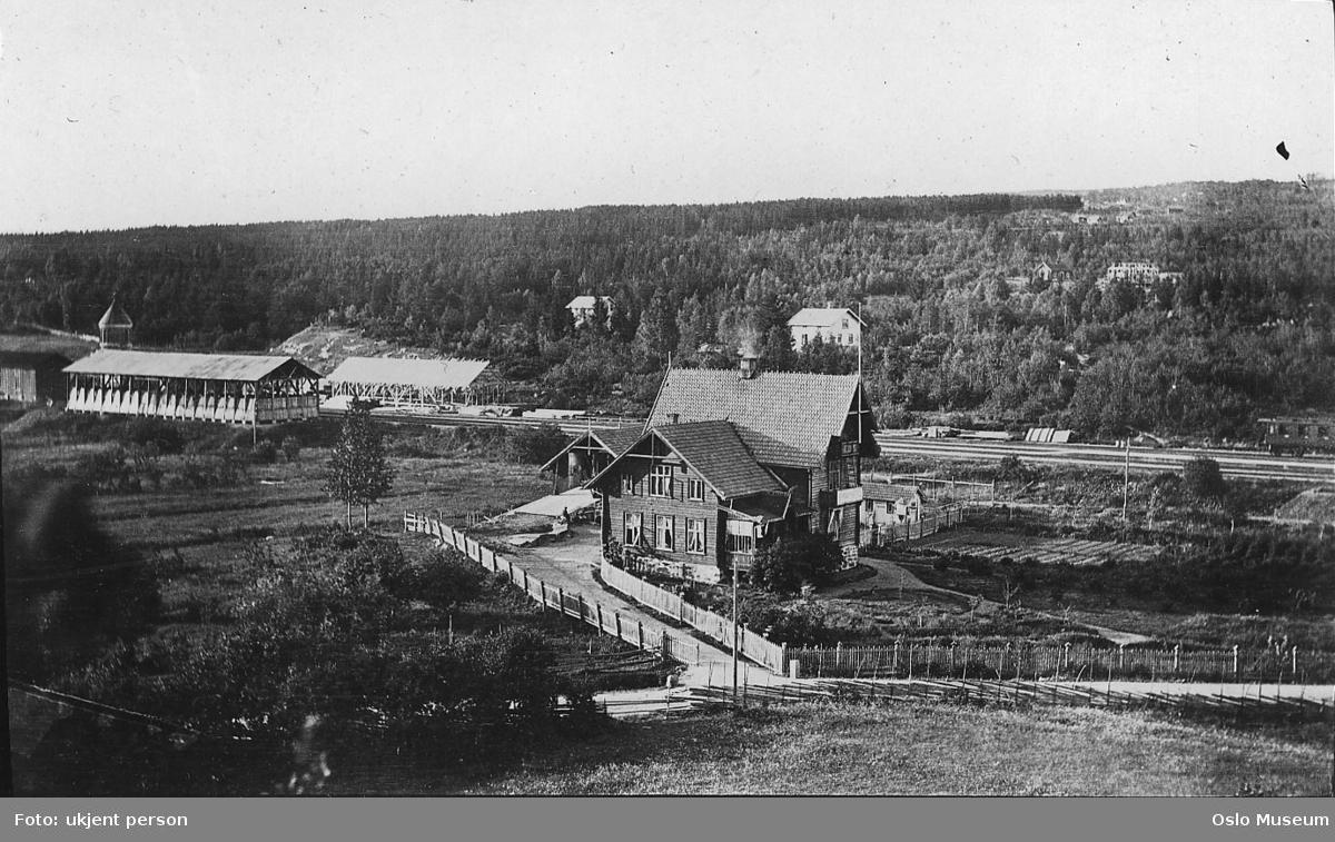 kulturlandskap, Horns hotell, bebyggelse, gårder, jernbanelinje