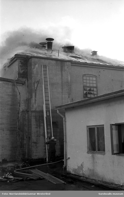 Eldsvåda på Johannedalsfabriken.