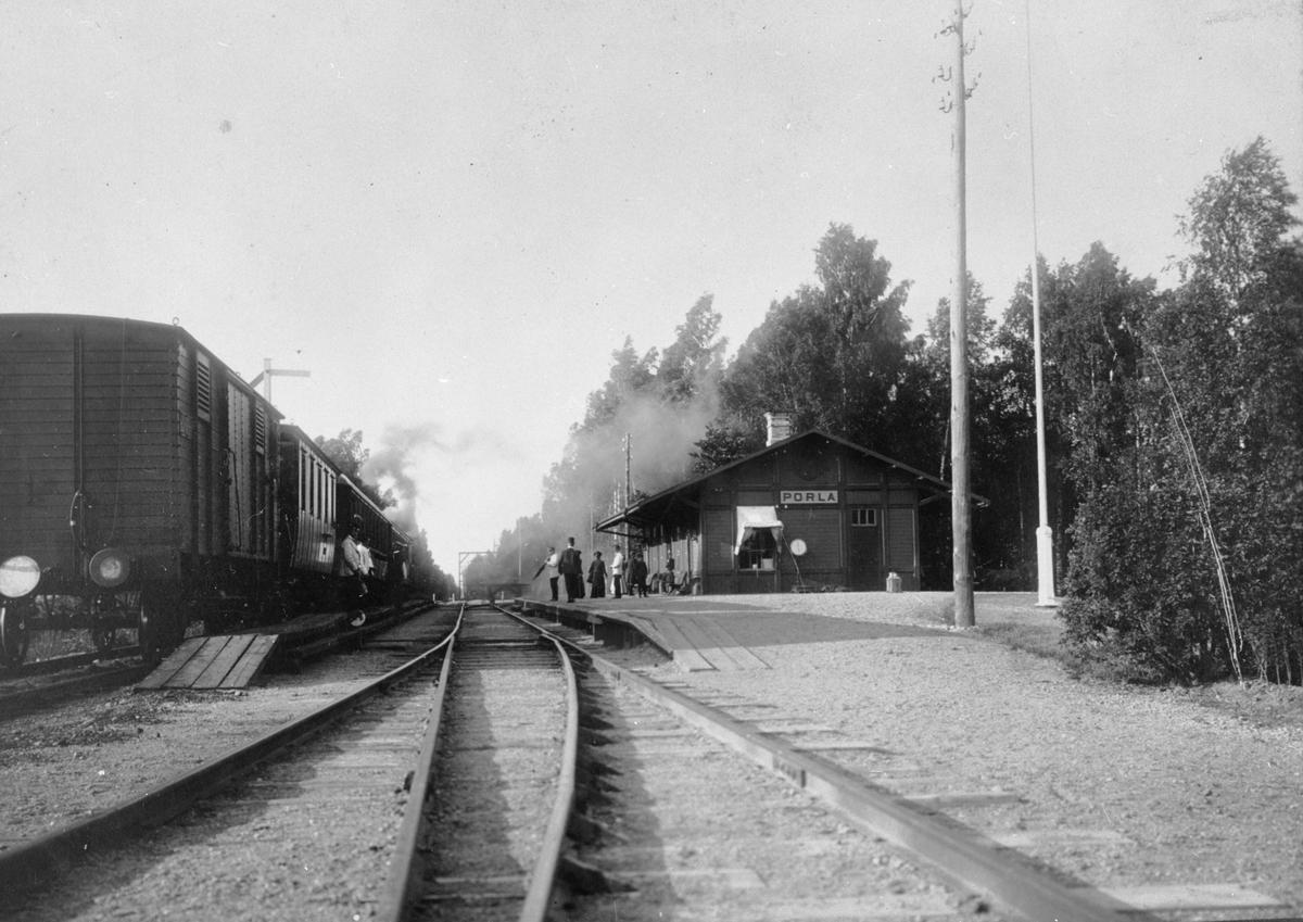 Porla station.