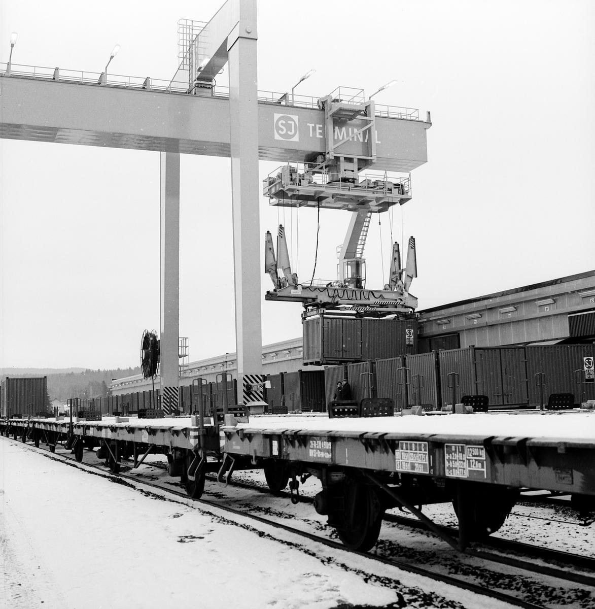 Statens Järnvägar, SJ Os godsvagn. Invigning av Jönköpings godsterminal