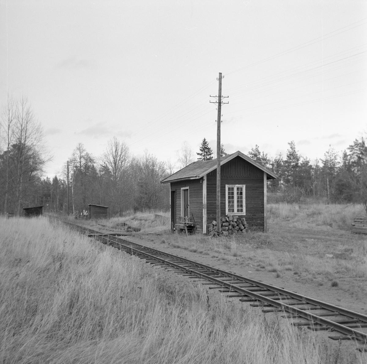 Byggnad vid Fårhult stationsormåde.