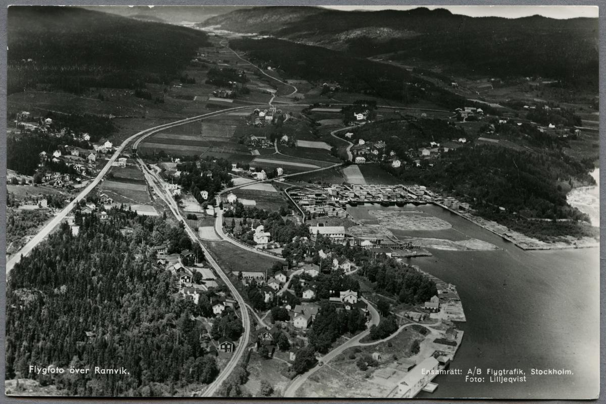 Flygvy över Ramvik.