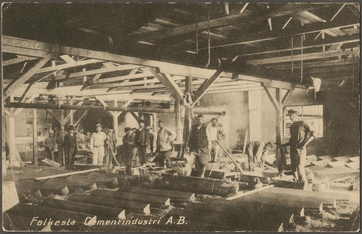 Interiör från Folkesta Cementindustri.