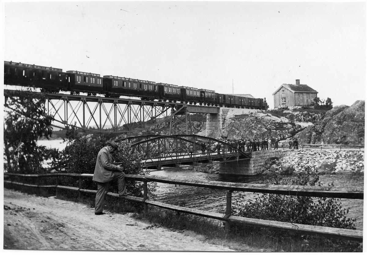 Järnvägsbron vid Ellenö.
