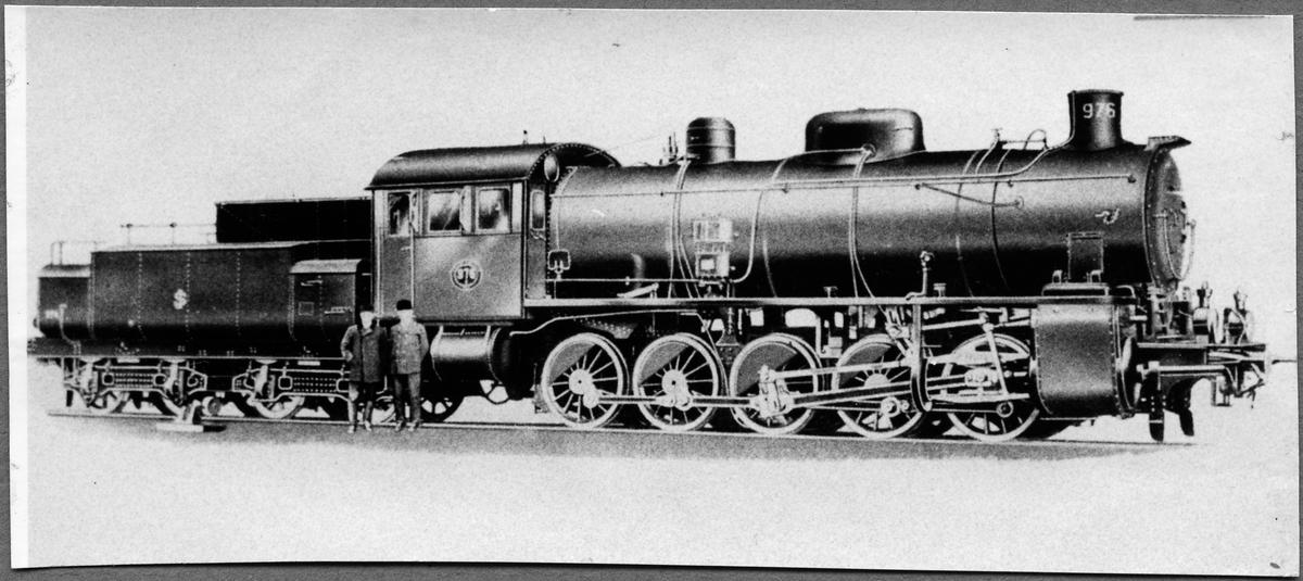Statens Järnvägar, SJ R 976 i fabrik innan leverans.