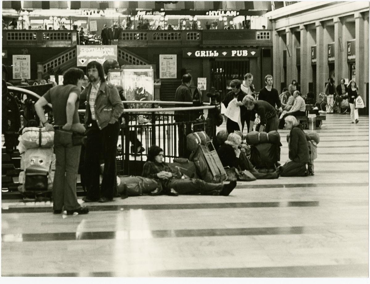 Interiör från Stockholms Centralstation.