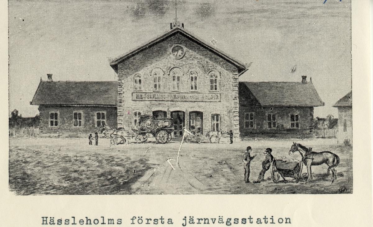 Hässleholms station.