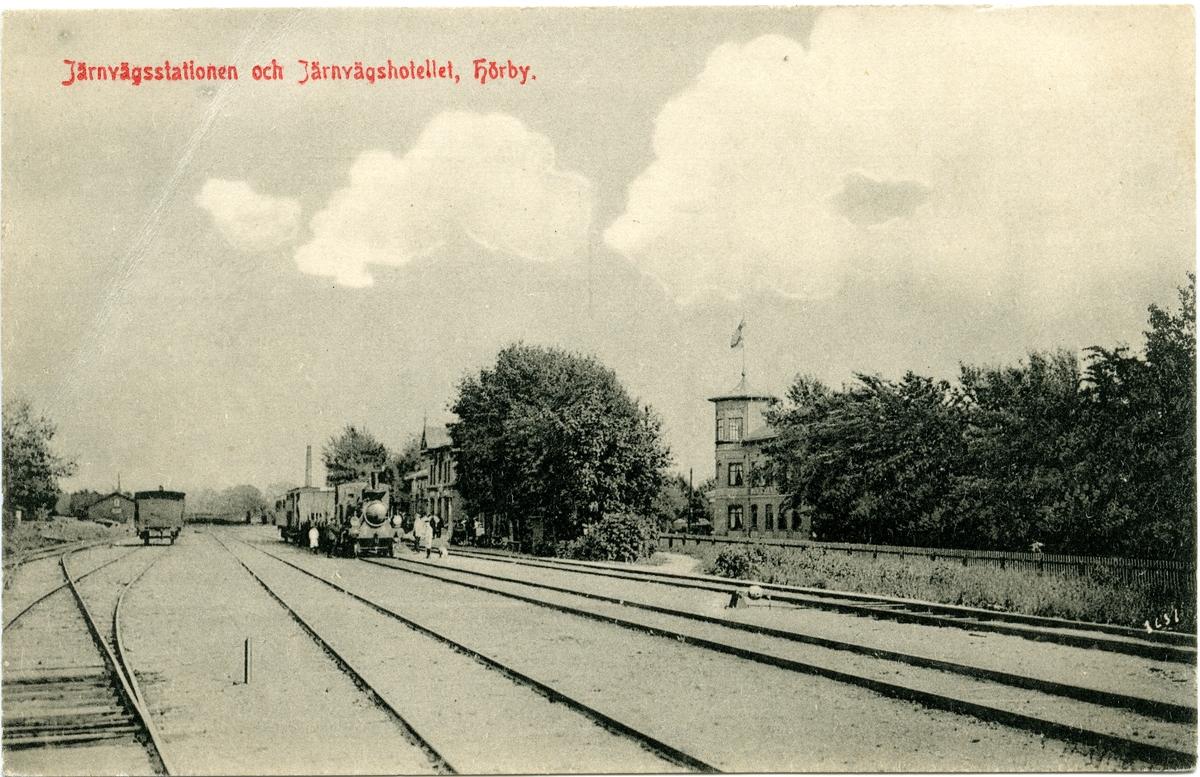 Hörby station och järnvägshotell.