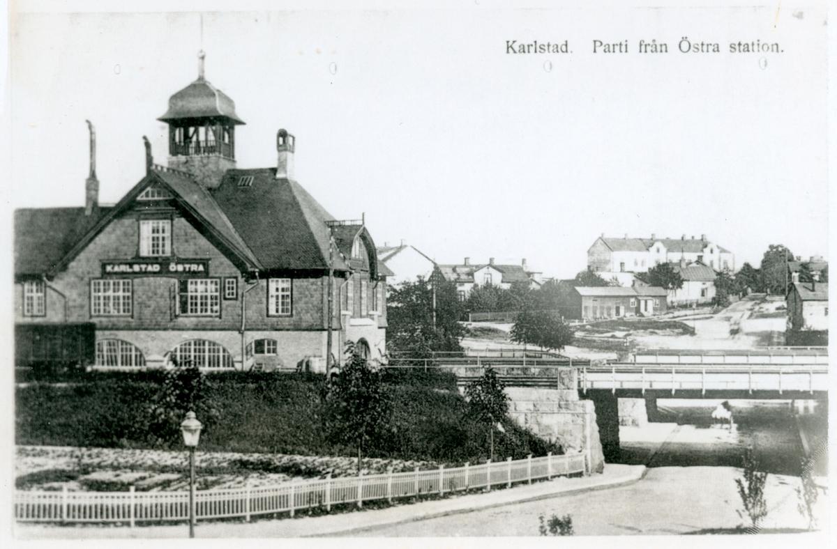 Karlstad. Parti från Östra station.