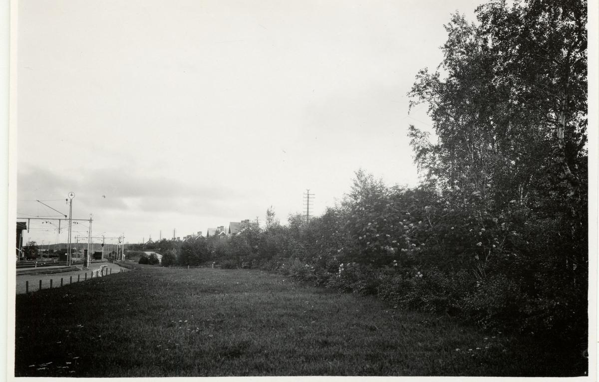 Del av Kiruna bangård.