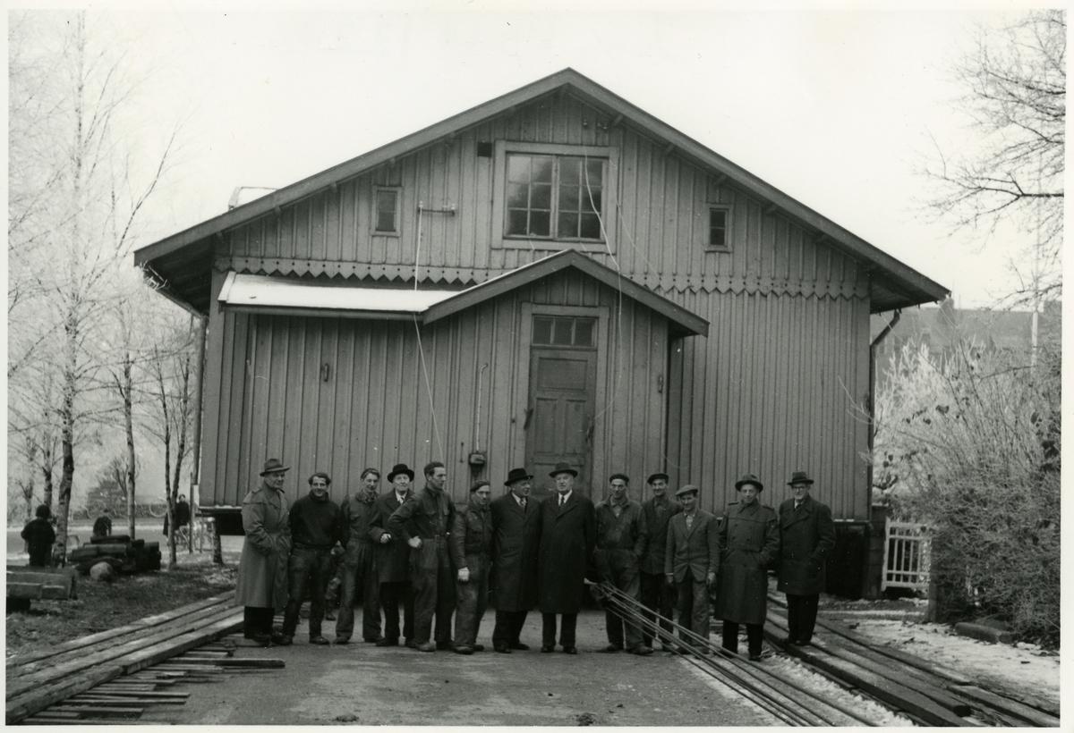 Flyttning av gamla stinsbostaden i Nässjö till Hembygdsparken 1957.