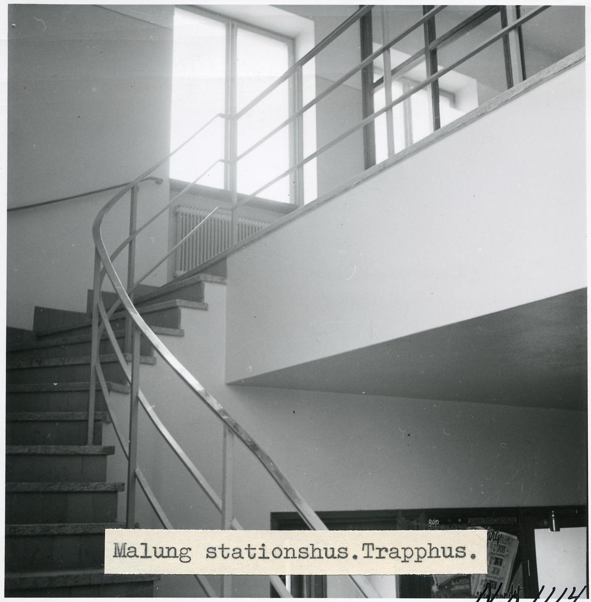 Interiör från Malung stationshus.