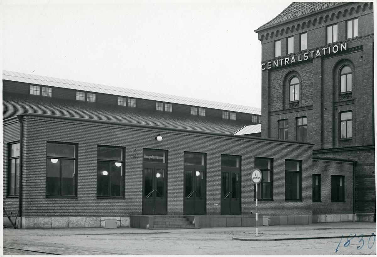 Expeditionen för ankommande resgods vid Malmö centralstation.
