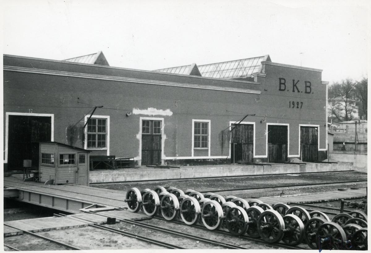 Ronneby huvudverkstad. Blekinge Kustbanor, BKB.