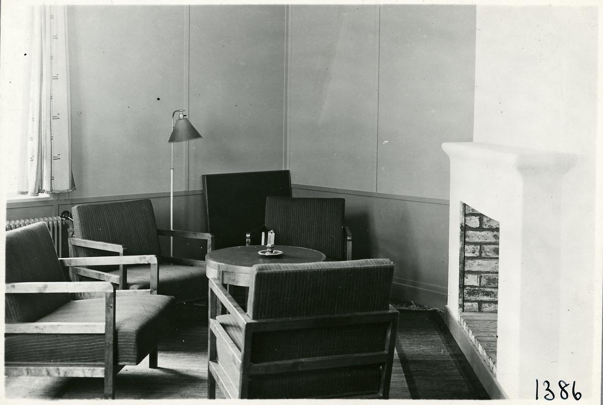 Storlien, sällskapsrum i annexet tillhörande dåvarande hotellet.